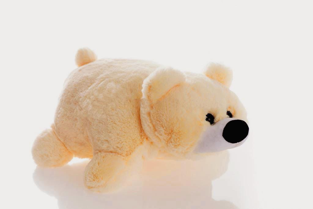 Подушка-игрушка Алина мишка 45 см персиковая