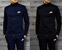 Мужской спортивный костюм Nike! Найк черный и темносиний на замке с прямыми брюками, размеры 46, 48, 50, 52
