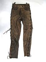Штаны кожаные женские Genuine Leather, 36 (S), стильные, Качество, Отл сост!