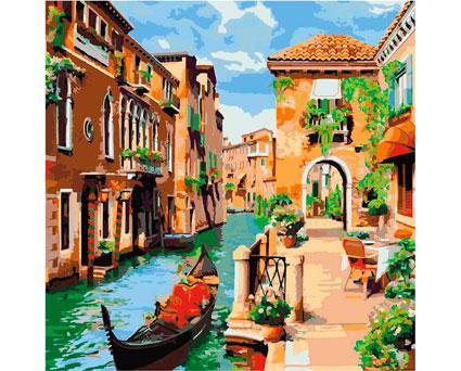 Картина по номерам Роспись на холсте Городской пейзаж Венецианское утро КНО2161