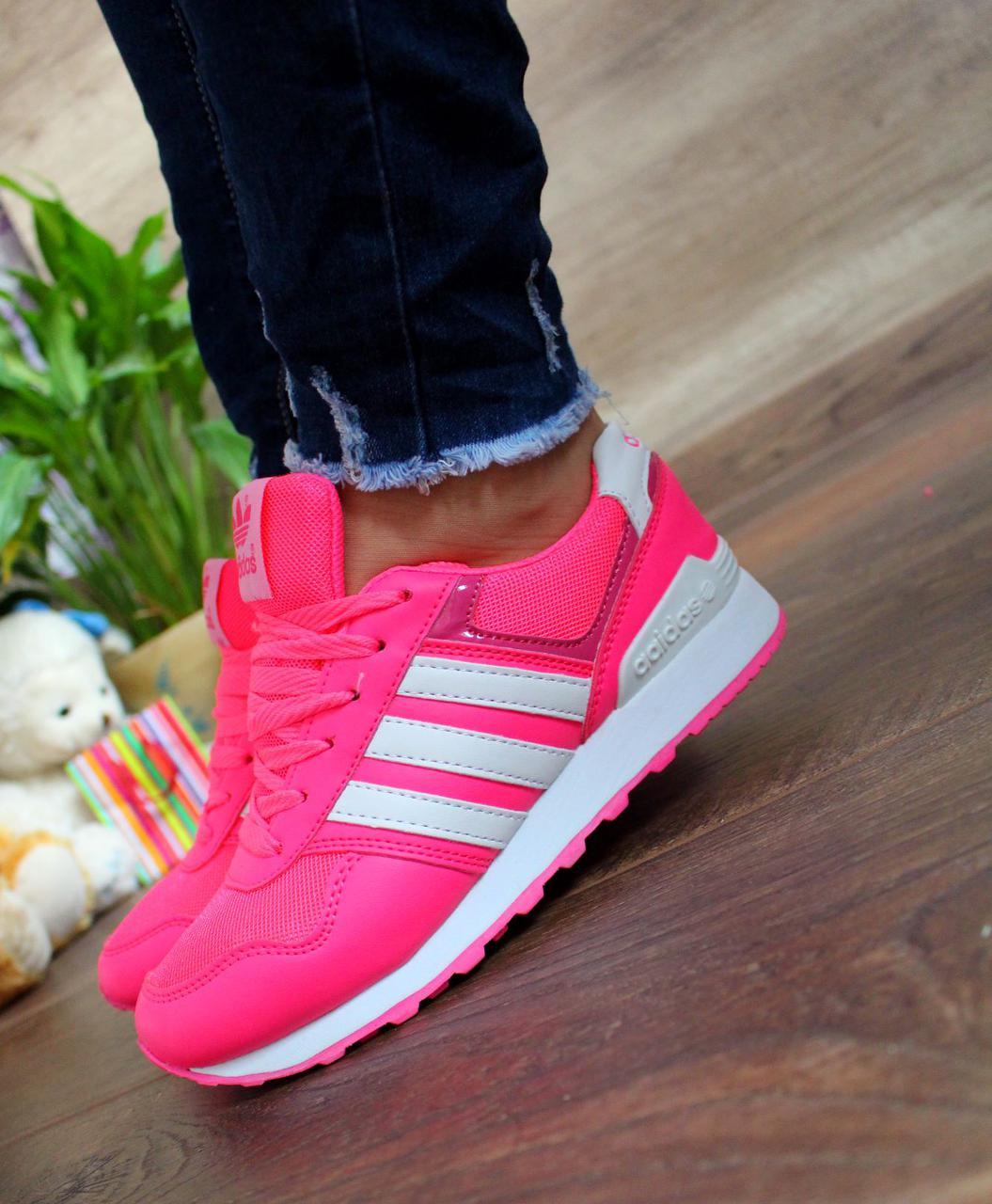 """Кроссовки копия """"adidas"""" Ярко-розовые."""