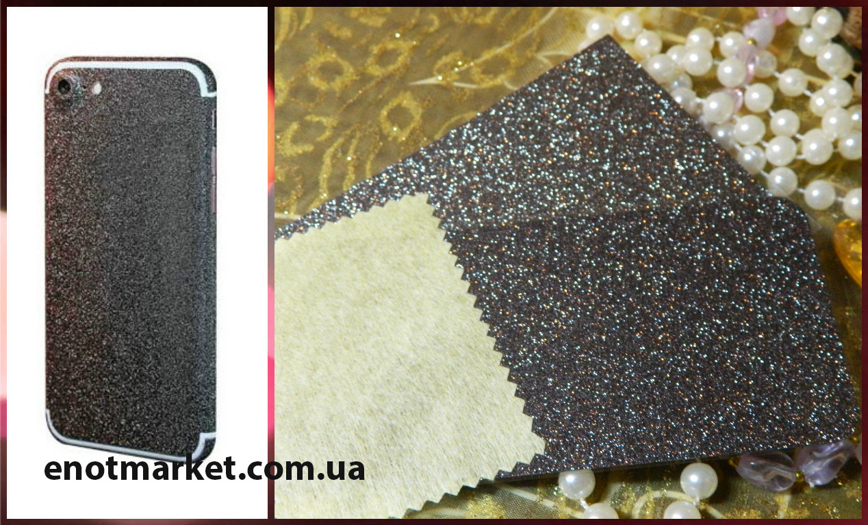 """Наклейка защитная пленка для Aplle iPhone 6/6s """"black"""""""