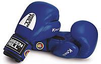 """Перчатки боксерские """"KNOCK"""" 10 унций синие Green Hill лицензированные Федерацией бокса Украины"""