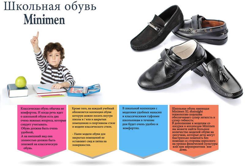 Школьная обувь minimen