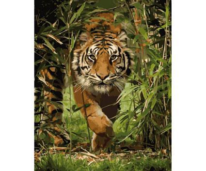 Картина по номерам Роспись на холсте Король джунглей КНО4043