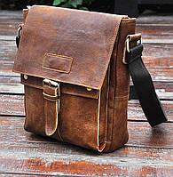 Стильная мужская сумка через плечо, цвет коричневый, Bexhill