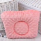 """Подушка для новорожденных с плюшем minky """"Серо-розовые совушки"""", фото 2"""