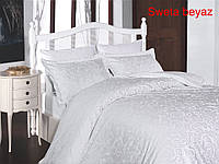 Постельное белье сатин First Choice (евро-размер) № Sweta Beyaz, фото 1