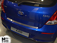Накладка на бампер Hyundai i20 с 2008-  (NataNiko)