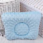 """Подушка для новорожденных с голубым плюшем minky """"Самолёты"""", фото 2"""