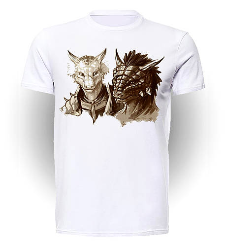 Футболка Geek Land Skyrim Скайрим Two dragons SK.001.27