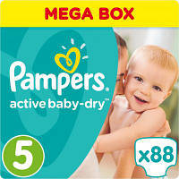 Подгузник Pampers Active Baby-Dry Junior (11-18 кг) Упаковка 88 шт (8001090459411)