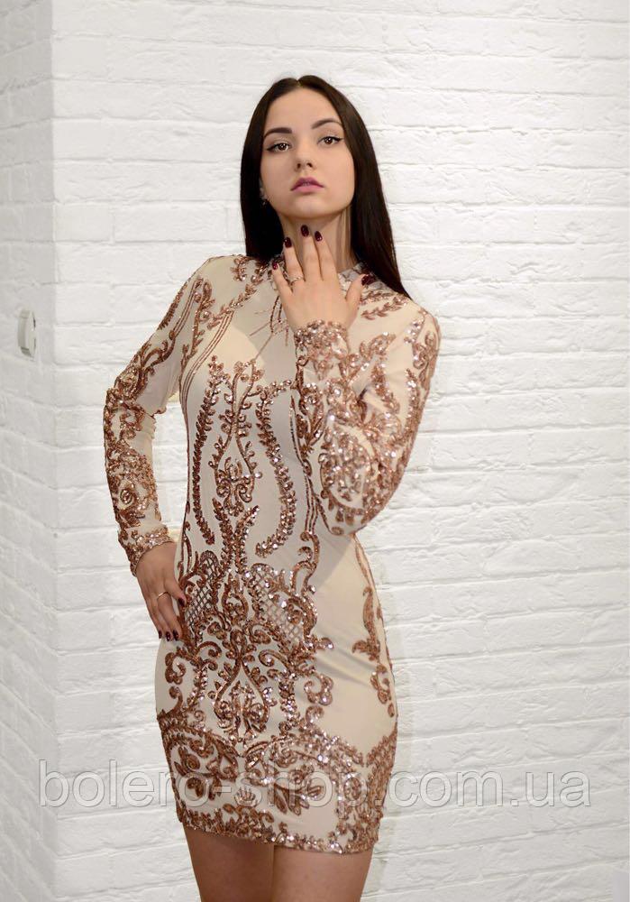 Платье нарядное Италия в пайетки