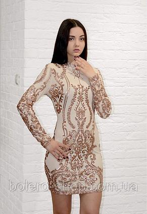 Платье нарядное Италия в пайетки, фото 2
