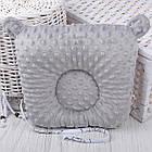 """Подушка для новорожденных с держателем для пустышки """"Серые мишки на белом"""", фото 2"""