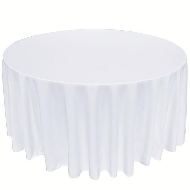 Скатерть диаметром 326см для круглого стола 180см Белая Италия