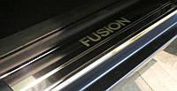 Накладки на пороги Ford FUSION с 2002- (Premium)