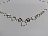 Колье Грация серебряное с золотом и цирконами, фото 1