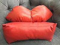 Подушка под голову - валик, красная, фото 1