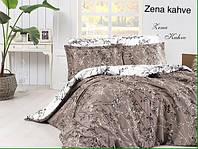 Постельное белье сатин First Choice (евро-размер) № Zena Kahve