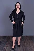 Молодежное платье темно-серого цвета 5505(размер в наличии  52 54 56 58.), фото 1