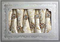 Золотая скатерть + 8 салфеток с держателями (в подарочной коробке)150х220см АРТ-082153