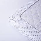 Простынь детская Asik на круговой резинке Мелкий серый горошек на белом (5К-100), фото 2