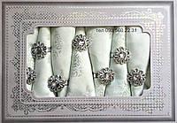 Фисташковая скатерть + 8 салфеток с держателями (в подарочной коробке) 150х220см АРТ-082156