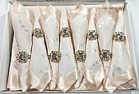 Персиковая скатерть с салфетками  в подарочной упаковке АРТ-082154