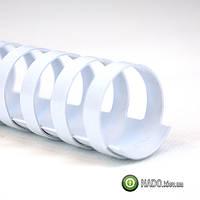 Пружины пластиковые GBC 10 мм (белые) 100 шт.
