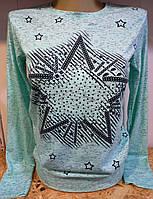 Батник cо звёздами коттоновый женский , фото 1