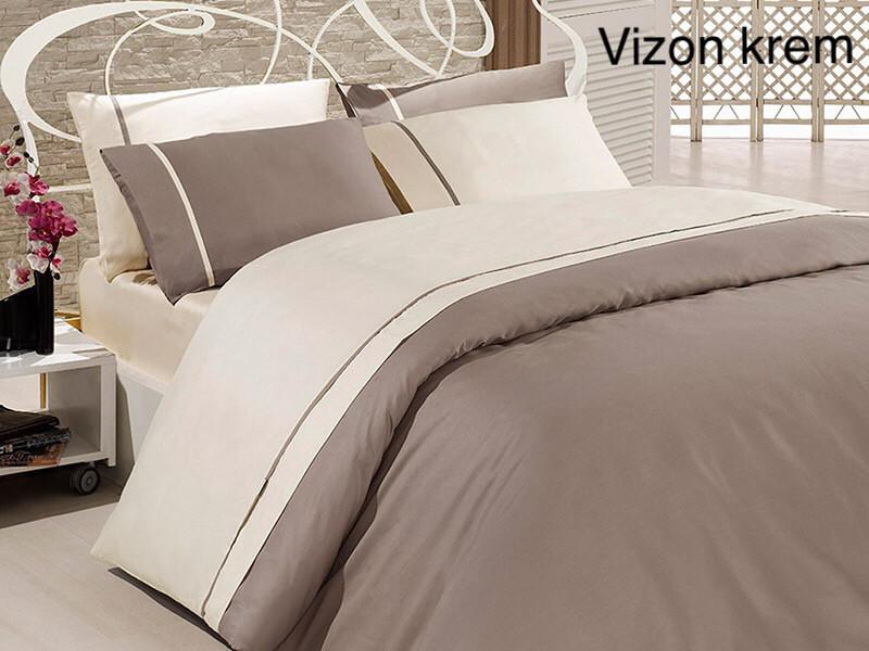 Постельное белье сатин First Choice (евро-размер) № Vizon Krem
