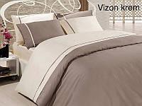 Постельное белье сатин First Choice (евро-размер) № Vizon Krem, фото 1