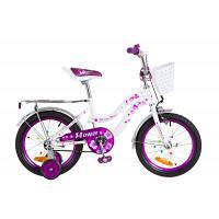 """Детский велосипед Formula 16"""" FLOWER 2018 14G рама-10"""" St бело-фиолетовый (OPS-FRK-16-041)"""