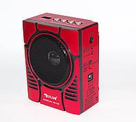 Колонка Golon RX-188 с FM /MP3/USB/SD  Music player Karaoke c LED фонариком, красный