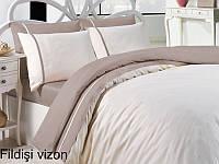 Постельное белье сатин First Choice (евро-размер) № Fildisi Vizon, фото 1