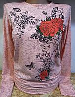Батник c розами коттоновый женский , фото 1