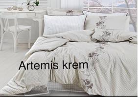 Постельное белье сатин First Choice (евро-размер) № Artemis Krem