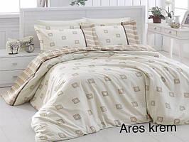 Постельное белье сатин First Choice (евро-размер) № Ares Krem
