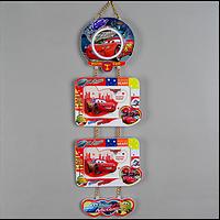 Детская рамка для фото двойная на стену Тачки