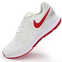 Мужские кроссовки для бега Nike Zoom Pegasus 33 белые с красным р.(39, 40, 42, 43, 44)