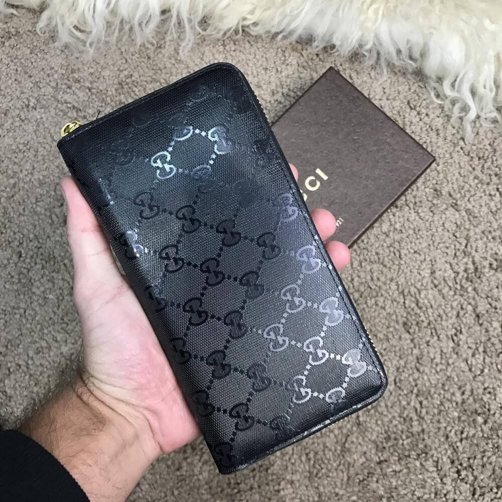 bc3f9a0e7c6a Gucci Wallet Signature Black Zip Around, цена 1 220 грн., купить в ...