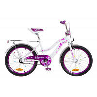 """Детский велосипед Formula 20"""" FLOWER 2018 14G рама-13"""" St бело-фиолетовый (OPS-FRK-20-048)"""