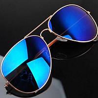 РАСПРОДАЖА! Солнцезащитные очки Ray Ban Aviator, золото
