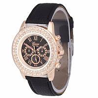 Часы Geneva с кожаным ремешком Crystal, фото 1