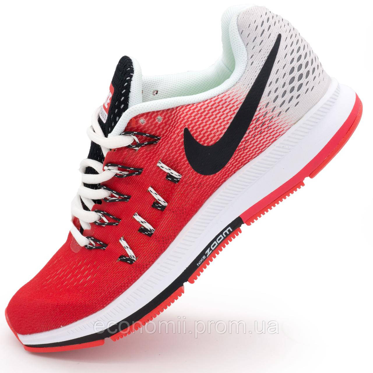 sports shoes 8265d f2e78 Женские кроссовки для бега Nike Zoom Pegasus 33 красные. Топ качество! -  Реплика р.(38)