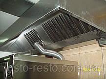 Зонт вытяжной вентиляции пристенный 1000/1000/400 мм, фото 2