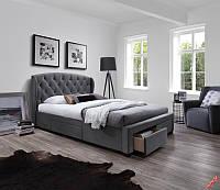 Кровать SABRINA (серый) (Halmar)