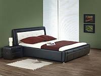 Кровать SAMANTA P (черно-белый) (Halmar)