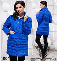 Длинная женская куртка на синтепоне без капюшона от производителя Украины ТМ Balani (42,44,46)